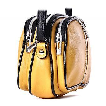 Żółta torebka damska listonoszka
