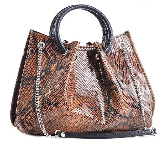 Elegancka torebka wężowy wzór