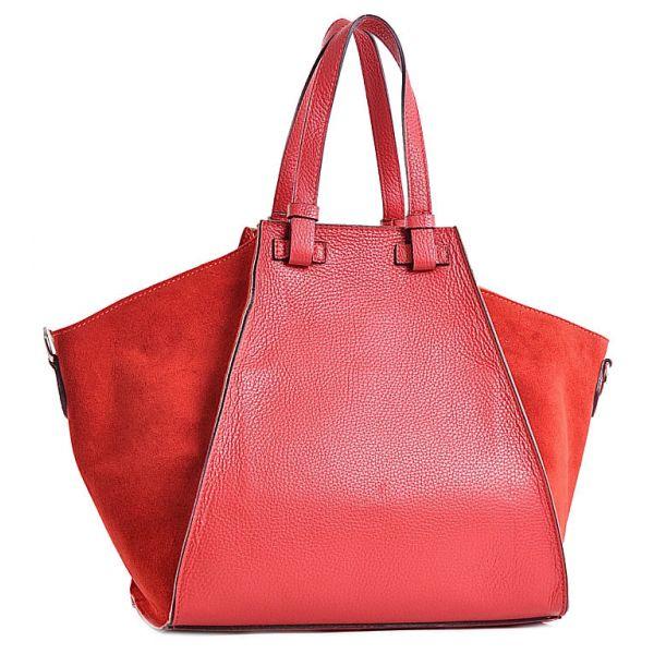 Modna torebka skórzana kuferek