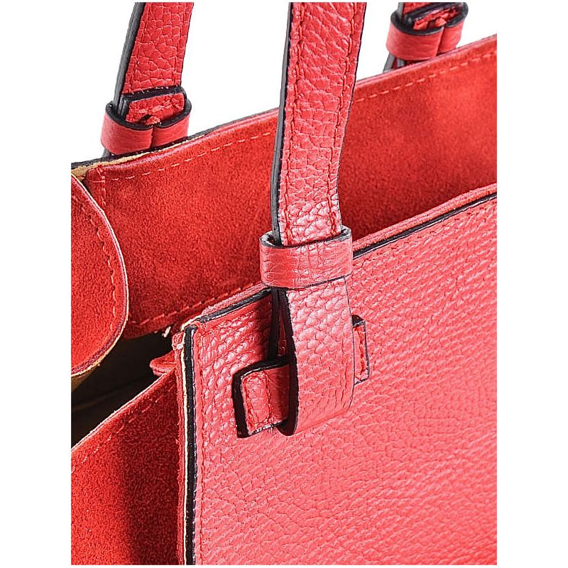 8f05eca0afec5 Elegancka torebka skórzana czerwona