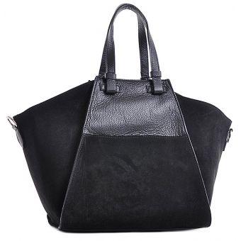 Czarna torba skórzana elegancka