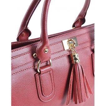 Elegancki kuferek damski czerwony