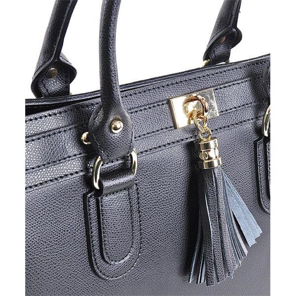 Wizytowa torebka damska skórzana czarna