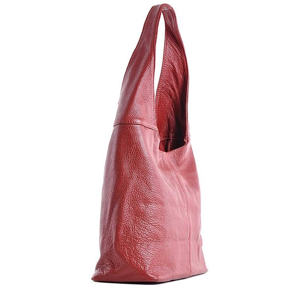 Damska torebka skórzana czerwona