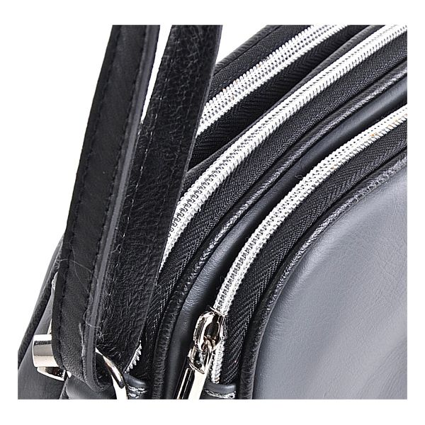Szara torebka skórzana na pasku