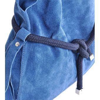 Niebieska torebka worek na ramię