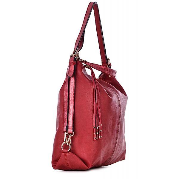 Duża torebka damska xxl czerwona