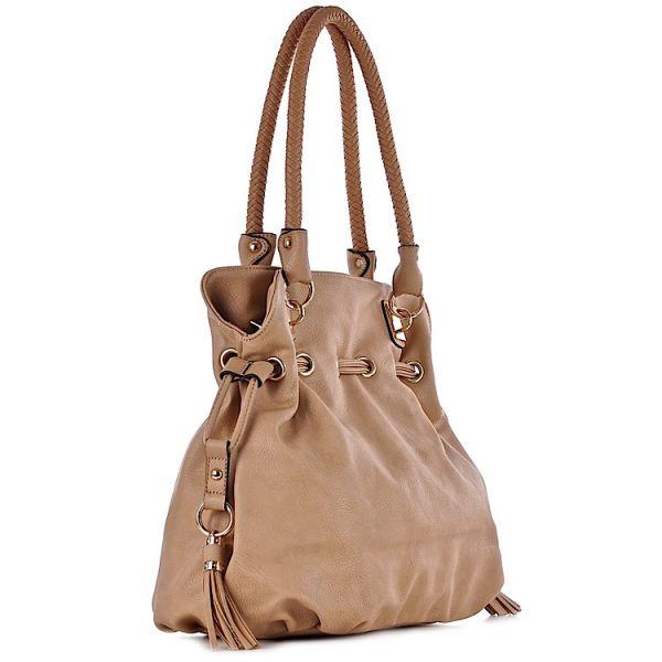 beżowa torebka damska xxl