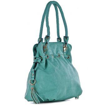 Zielona torebka damska na ramię