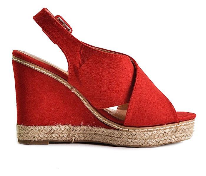 5261d7e2 Czerwone buty damskie na koturnie