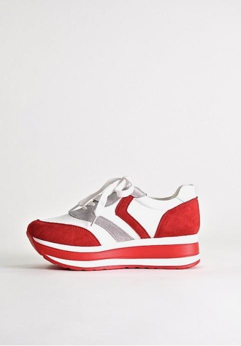 Sneakersy damskie na platformie