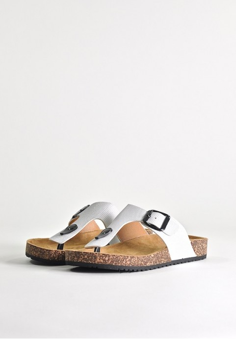 Białe klapki plażowe White Sand