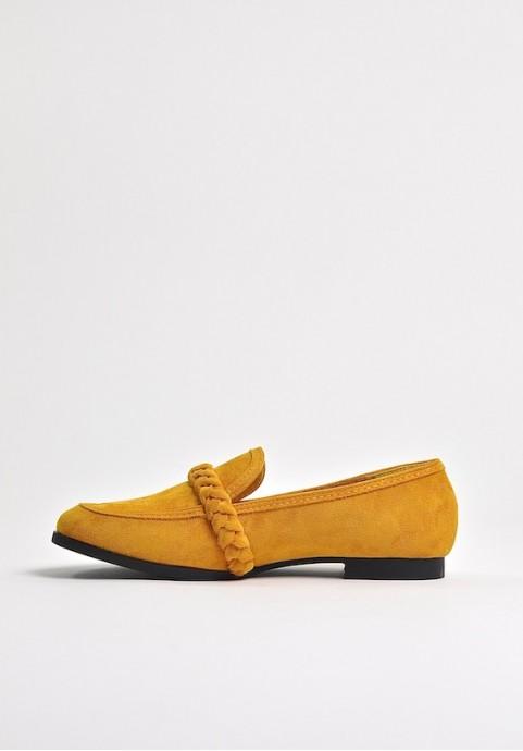 Żółte mokasyny damskie Sweets