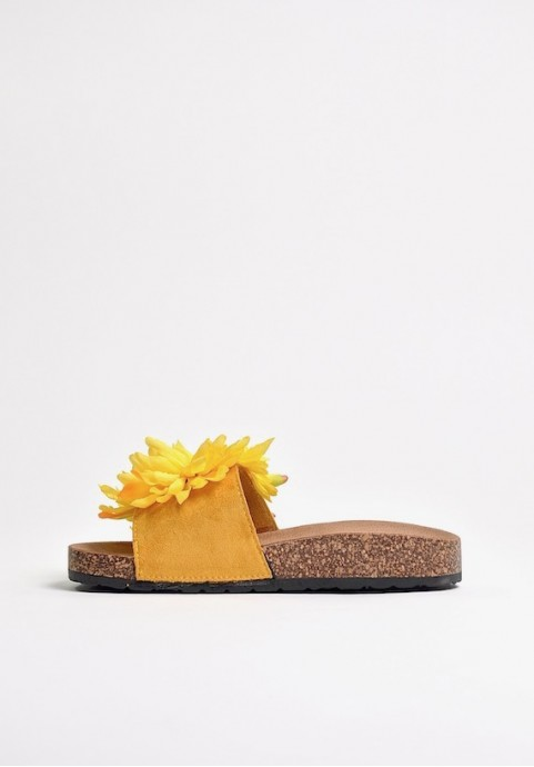 Klapki plażowe Yellow Flower