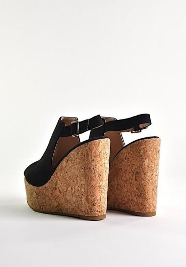 Czarne buty damskie na...