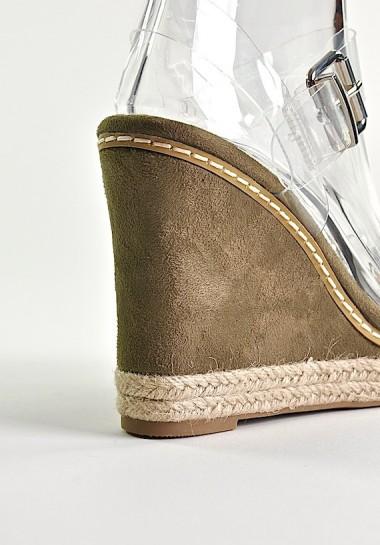 Przeźroczyste buty damskie...