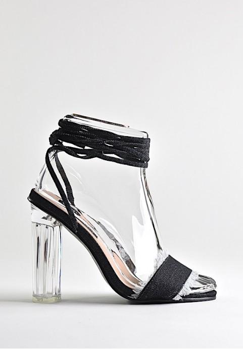 Buty damskie sandały wiązane w kostce