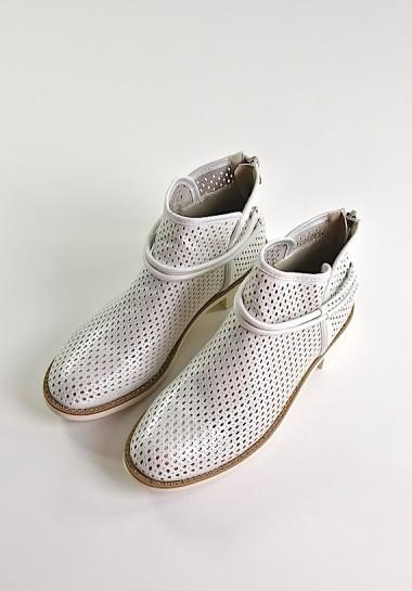 Srebrne buty damskie botki...