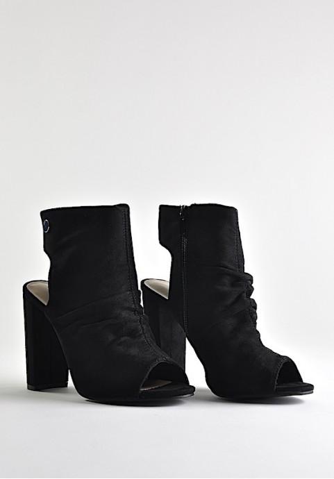 Buty damskie na słupku z odkrytymi palcami