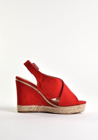 Czerwone buty damskie na...