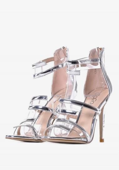 Srebrne sandały damskie...