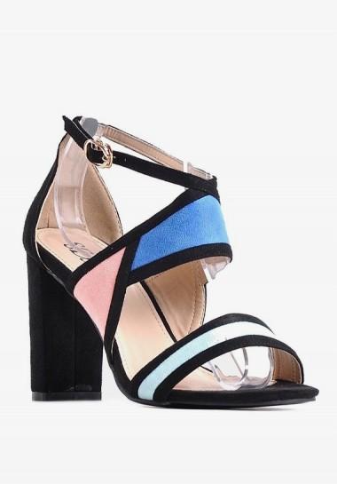 Kolorowe sandały damskie na...