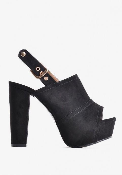 Sandały na platformie czarne