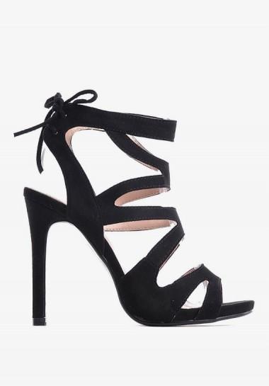 Czarne zamszowe sandały...
