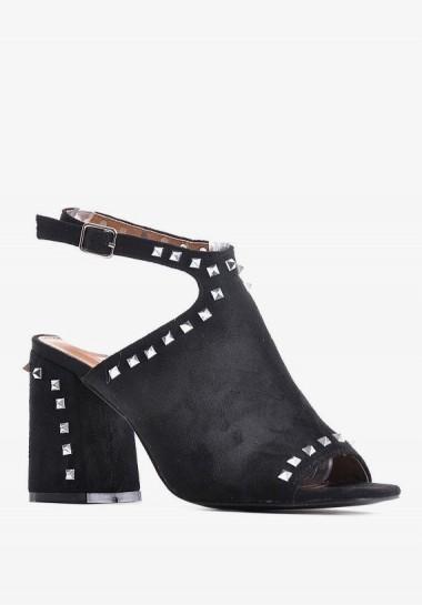 Sandały na obcasie czarne...