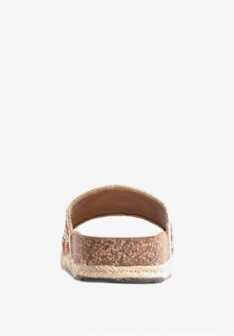 Profilowane klapki damskie na korku