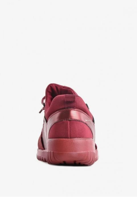 Bordowe buty sportowe