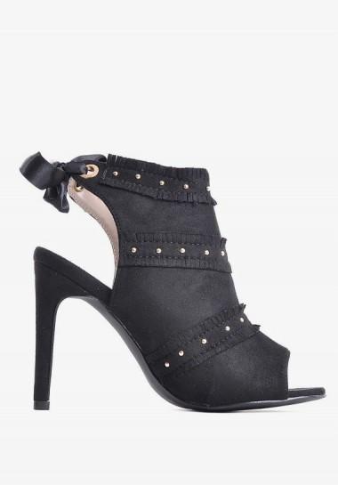 Eleganckie czarne sandały...