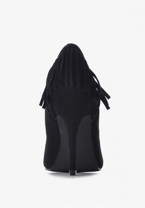 Zamszowe szpilki damskie czarne