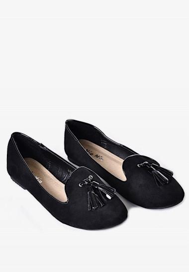 Czarne balerinki damskie...