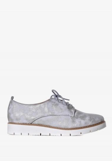 Srebrne buty damskie...