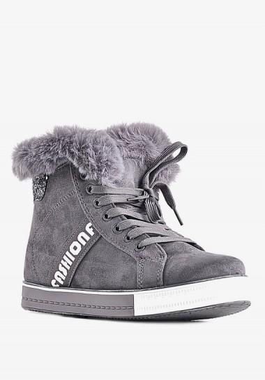 Szare buty damskie sportowe...