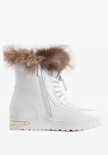 Białe śniegowce damskie...
