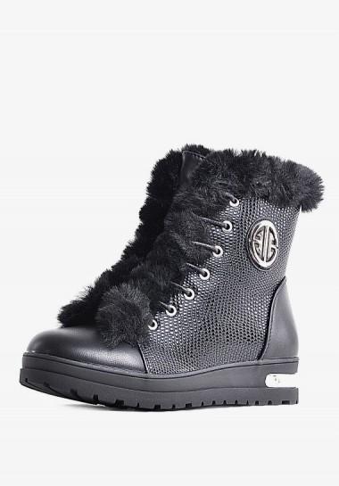 Czarne sneakersy damskie z...