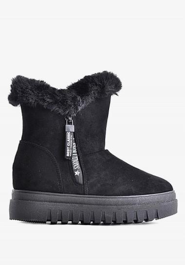 Zimowe buty damskie czarne...