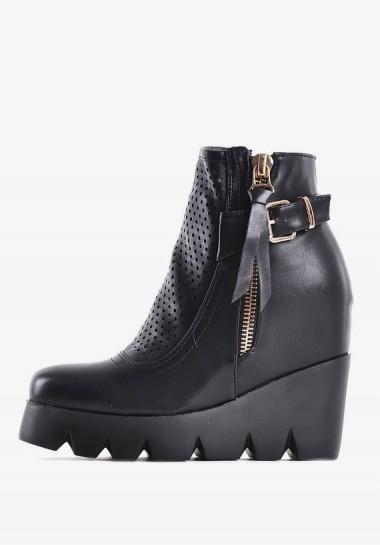 Buty na platformie czarne