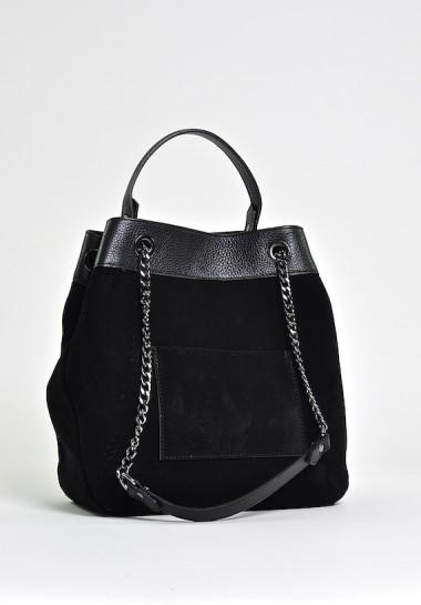 Czarna zamszowa torebka...