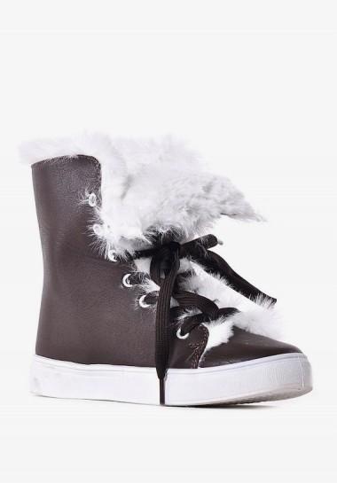 Buty zimowe damskie z...