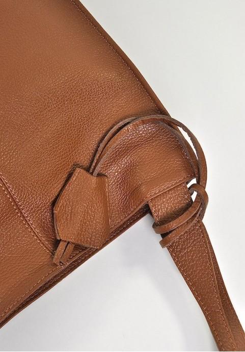 Klasyczna torebka skórzana worek