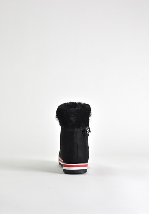 Czarne buty zimowe damskie