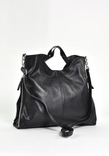 Czarna torebka skórzana...