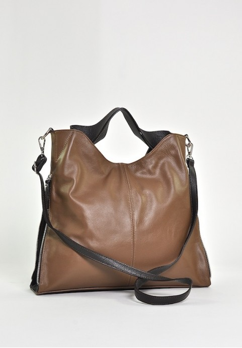 Włoska skórzana torba damska do ręki