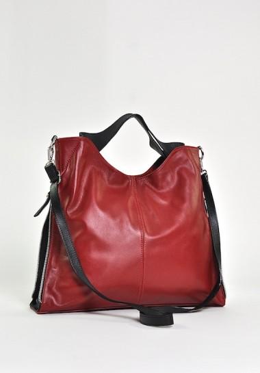 Włoska czerwona torba...