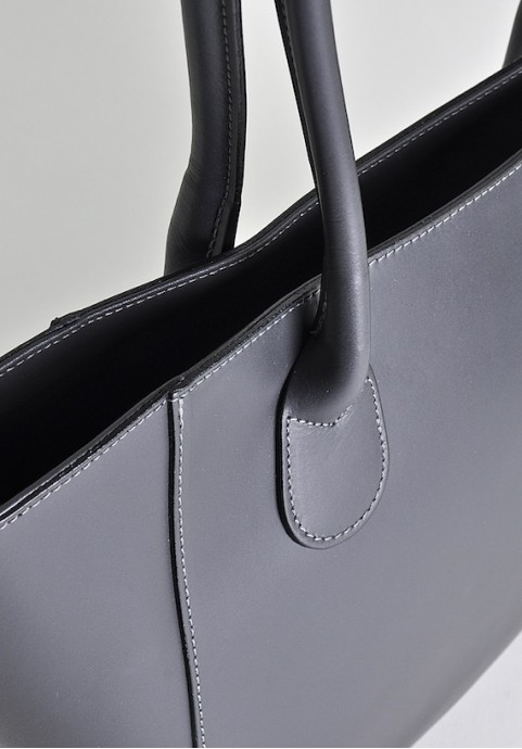 Szara torebka damska shopper na ramię