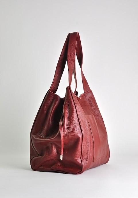 Uniwersalna torebka skórzana włoska worek