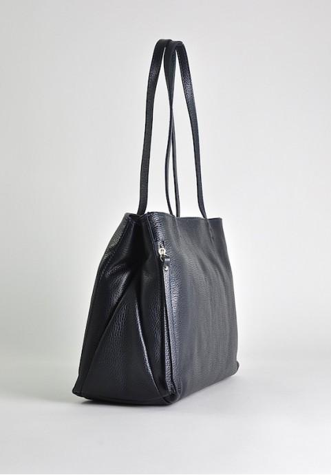 Duża torebka damska skórzana czarna